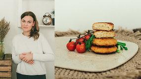 Pietų stalui: skanieji vištienos ir daržovių kotletukai su sūriu