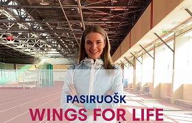 """Airinė Palšytė dalinasi patarimais, kaip apšilti prieš bėgimą """"Wings For Life World Run"""""""