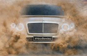 """""""Bentley"""" užsiminė apie naujojo SUV kategorijos modelio išvaizdą"""