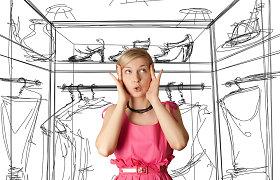 """Stilistė V.Šaulytė: patogiai susitvarkyti drabužinę padės """"trijų krūvelių"""" principas"""