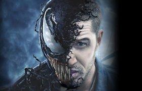 """Tomas Hardy virsta """"Venomu"""": charizmatiškasis antiherojus sulaukė savo atskiro filmo"""