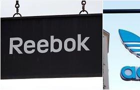 """""""Adidas"""" pranešė svarstanti galimybę parduoti prekių ženklą """"Reebok"""""""