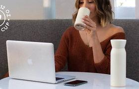 """Praktiškas išradimas """"zero waste"""" entuziastams – vandens buteliukas ir kavos puodelis viename"""