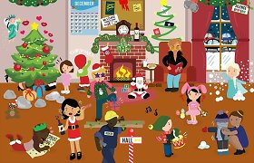 Šventinis galvosūkis: ar sugebėsite rasti visas paveikslėlyje užšifruotas kalėdines dainas?