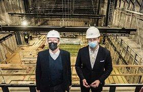 Rekonstruojamame LNDT apsilankė I.Šimonytė ir S.Kairys