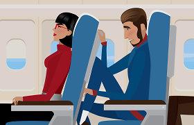 Kas neteisus? Įrašas iš lėktuvo įžiebė diskusiją dėl kėdžių atsilenkimo