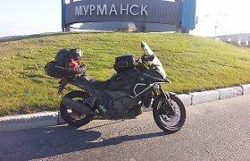 23 tūkst. km kelionė Rusijoje: 16. Motociklininkas Aidas Bubinas – finiše