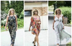 Svetlana Pronina Botanikos sode tapo advokatės Liudvikos Meškauskaitės kolekcijos modeliu