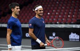 Rogeris Federeris ir Novakas Džokovičius suvienys jėgas dvejetų varžybose