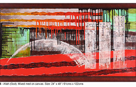 Į Lietuvą atvykstanti žinoma indų kaligrafė tapydama naudoja banko korteles, šukas ir vielą