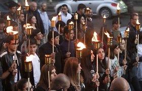 Jerevane vyksta eisena su deglais, skirta Kalnų Karabache žuvusiems atminti