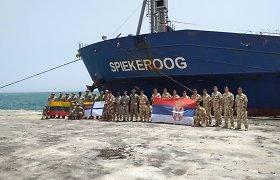 """Lietuvos kariai baigė dalyvavimą ES karinėje jūrų operacijoje """"Atalanta"""""""