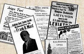 """Graboriai, """"vartotas karas"""" ir raginimai negrįžti į Lietuvą: 20 įdomiausių tarpukario JAV lietuvių spaudos reklamų"""