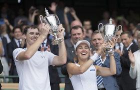 Vimbldono mišrių dvejetų turnyre triumfavo Martina Hingis ir Jamie Murray