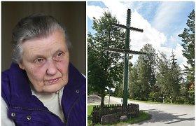 Angelės atsiminimai apie Kumpikų kryžių, išdrožtą iš vientiso ąžuolo kamieno: sovietai liepė griauti, bet niekas iš kaimo nesiryžo