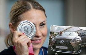 Tokijo vicečempionei L.Asadauskaitei už medalį bus įteiktas naujas automobilis