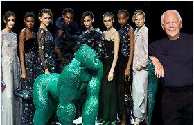Naujausioje savo kolekcijoje dizaineris Giorgio Armani eleganciją suderino su patogumu