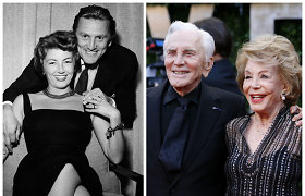 """K.Douglaso ir žmonos beveik 70 metų trukusių santykių paslaptis: """"Nesutarimus išsprendžiame bučiniu"""""""