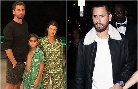 Kourtney Kardashian vaikų tėvas turėjo sprukti iš reabilitacijos klinikos: buvo pažeistos jo teisės
