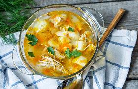 Savaitgalio pietums ar vakarienei – sezoninė sriuba su paukštiena. 10 receptų