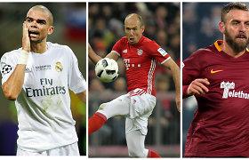 Geriausi futbolininkai, kurie nuo vasaros taps laisvaisiais agentais