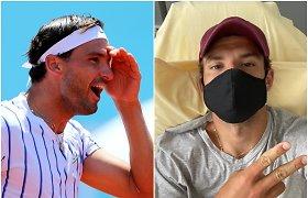 Teniso žvaigždė užsikrėtė koronavirusu, finalas atšauktas
