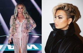 Iš ilgakasės į trumpaplaukę – vos per kelias dienas: Demi Lovato pristatė naują įvaizdį