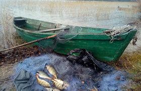 Brakonieriaujant Vajuonyje sučiuptas verslinės žvejybos leidimą turėjęs vyras