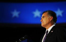 """M.Romney: D.Trumpo pokalbis su Ukrainos prezidentu """"kelia didelį nerimą"""""""