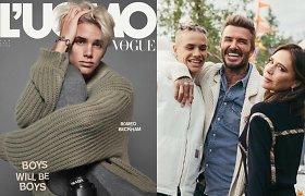 Romeo Beckhamas debiutavo ant žurnalo viršelio: gerbėjus stebina panašumas į garsius tėvus