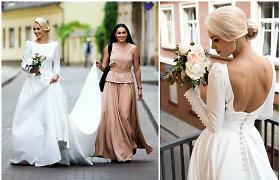 """""""Pinup Girls"""" narė Viktorija Arlauskienė parduoda išgirtą Simonos Nainės kurtą nuotakos suknelę"""