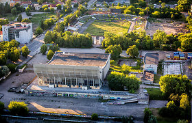 Turto bankas kol kas negali pasirašyti Vilniaus sporto rūmų rekonstrukcijos sutarties