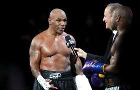 """Mike'as Tysonas prieš pat sugrįžimo kovą užsirūkė kanapių: """"Aš negaliu sustoti"""""""
