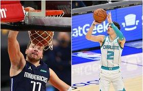 NBA startas: LaMelo Ballo ir Facundo Campazzo debiutai bei Lukos Dončičiaus magija
