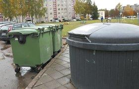 Vilniuje sprogus nenustatytam užtaisui degė atliekų konteineris