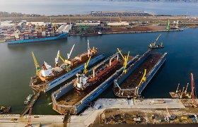 VLG rikiuotėje – dar vienas didžiausių laivų remontui skirtas plaukiojantis dokas