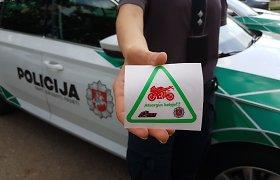 """Kauno policija motociklininkams primena, kad """"Atsargus kelyje"""" – ne tik lipdukas"""