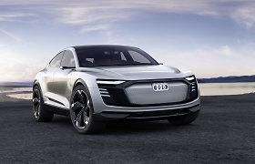 """""""Audi e-tron Sportback"""" elektromobilio gamyba bus pradėta 2019 metais"""