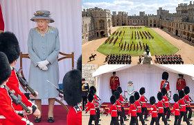 Vėliavos pagerbimo paradu pažymėtas karalienės Elizabeth II oficialus gimtadienis