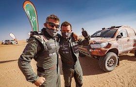 Dakaro finiše Darius Vaičiulis buvo atviras: kitąmet su Antanu Juknevičiumi nebevažiuos