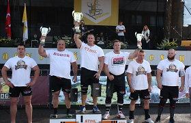 Baltijos galiūnų čempionato dalyviams koją kišo prastas oras, titulas atiteko latviui