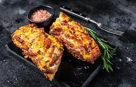 Įdomybės apie prancūzišką batoną ir karšto sumuštinio su gausybe sūrio receptas
