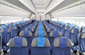 Smulkmenos, kurių net nepastebite lėktuve: kodėl sėdynės būna mėlynos?