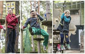 """Deivis ir Renata Norvilai su vaikais karstėsi medžiais: """"Nenorime šeimos laiko švaistyti šiaip sau"""""""