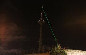 Televizijos bokštas įspūdinga Kalėdų egle virs tik esant darganotam orui