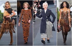 Garsiausi pasaulio modeliai podiumu dalijosi su garbaus amžiaus damomis Helen Mirren ir Jane Fonda
