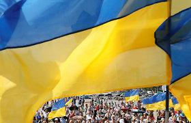Kijeve prie parlamento keli šimtai žmonių ragina priimti įstatymą dėl ukrainiečių kalbos