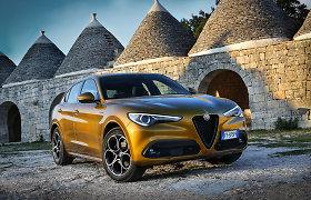 """Atnaujinti """"Alfa Romeo"""" modeliai: nauja multimedija ir antro lygio autonominio vairavimo funkcija"""