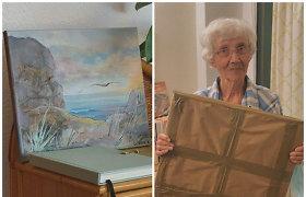 Į Tenerifę persikėlusi 87-erių Danguolė tapo paveikslus ir juos parduoda instagrame