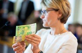 Nauji 100 ir 200 eurų banknotai – jau apyvartoje: įsidėmėkite apsaugos požymius
